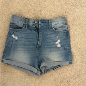 Hollister Medium Wash Jean Shorts